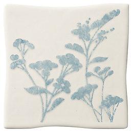 Padstow Sky Blue Ceramic Wall Tile, (L)100mm (W)100mm