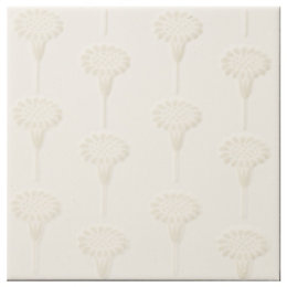 Daisy Cream Ceramic Wall Tile, (L)150mm (W)150mm