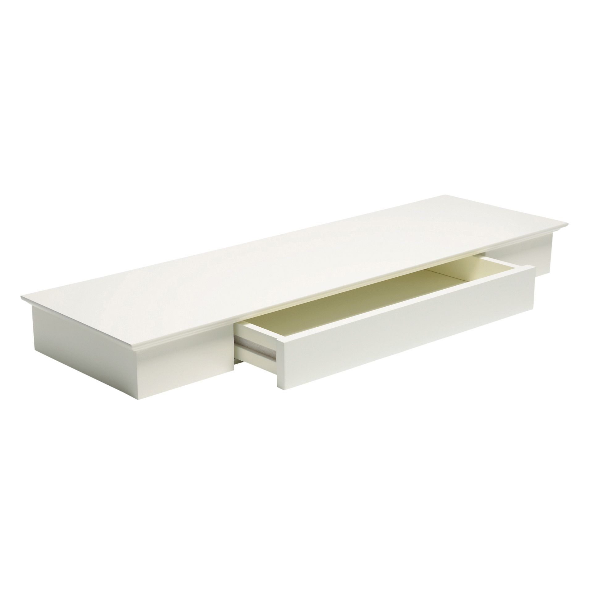Bathroom Cabinets Uk Bq Heritage Cream Floating Drawer Shelf L804mm D251mm