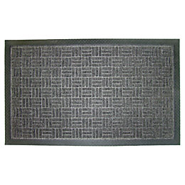 Diall Grey Plastic Door Mat (L)0.75m (W)450mm