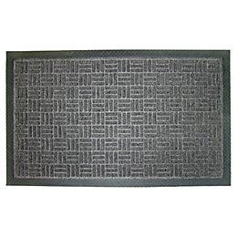 Diall Grey Plastic Door Mat (L)0.75m (W)450mm
