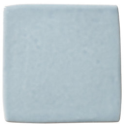 Blue-Grey Ceramic Wall Tile, Pack of 25, (L)100mm