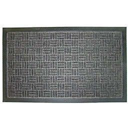 Diall Grey Plastic Door Mat (L)0.9m (W)600mm