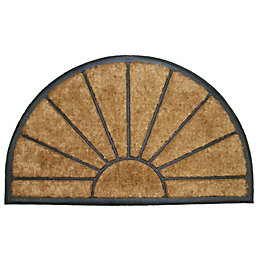 Diall Black & Natural Half Moon Coir Door