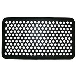 Diall Black Rubber Door Mat (L)0.7m (W)400mm