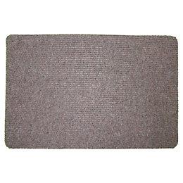 Value Brown Plastic Door Mat (L)600mm (W)400mm