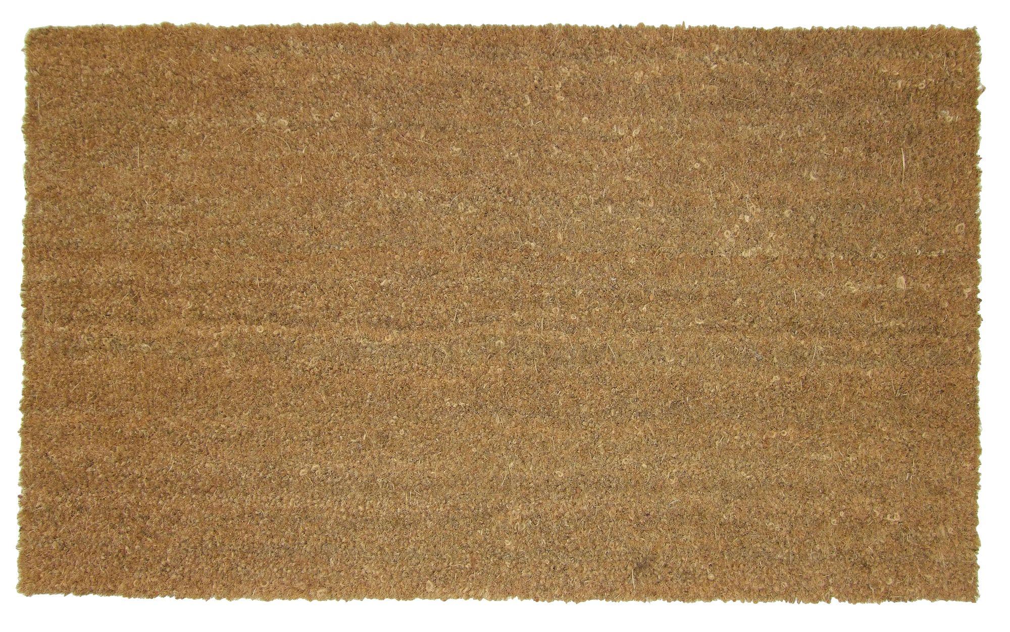 Diall Natural Plain Coir Amp Pvc Doormat L 110cm W 80cm