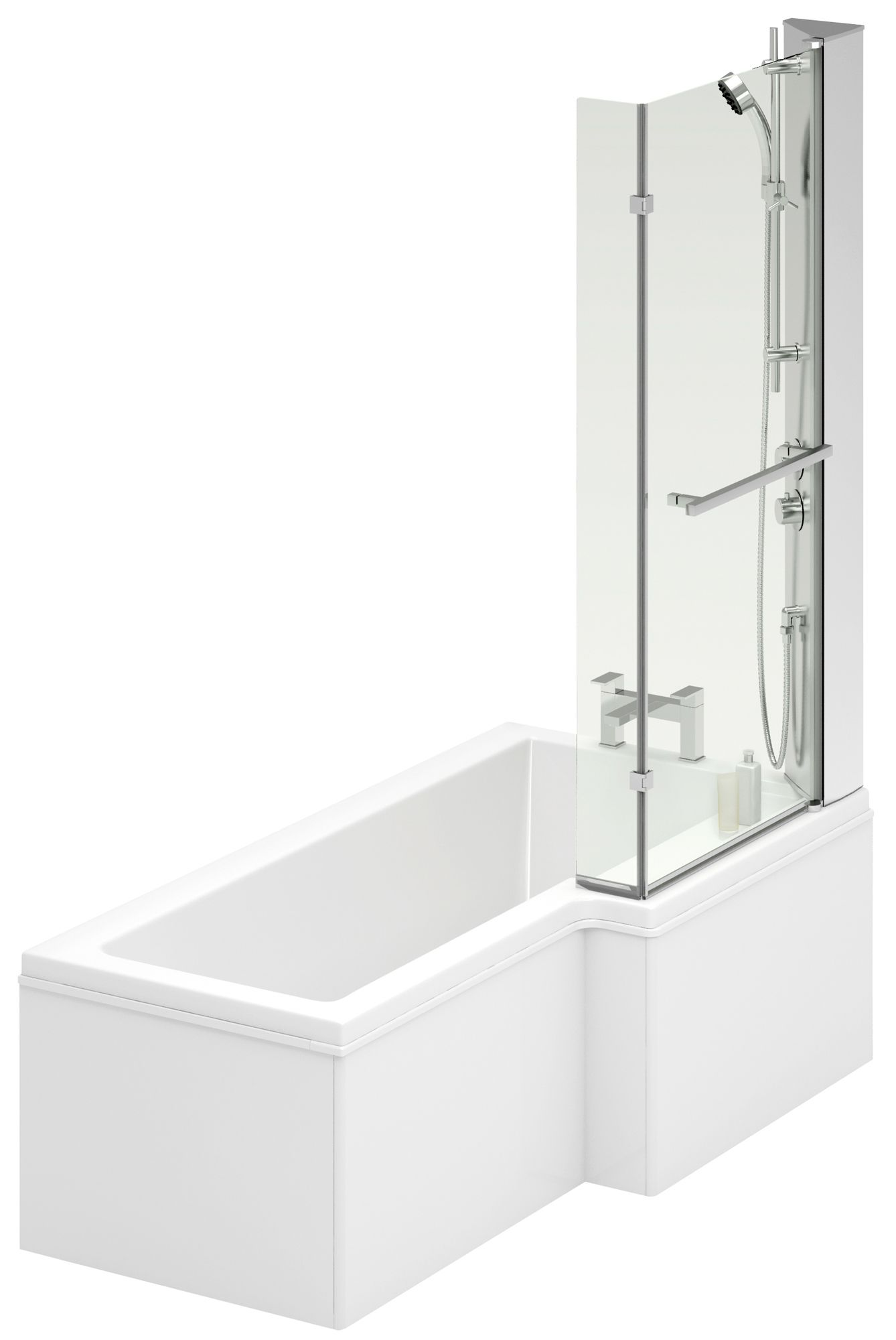 Cooke Amp Lewis Adelphi Rh Acrylic L Shaped Shower Bath L