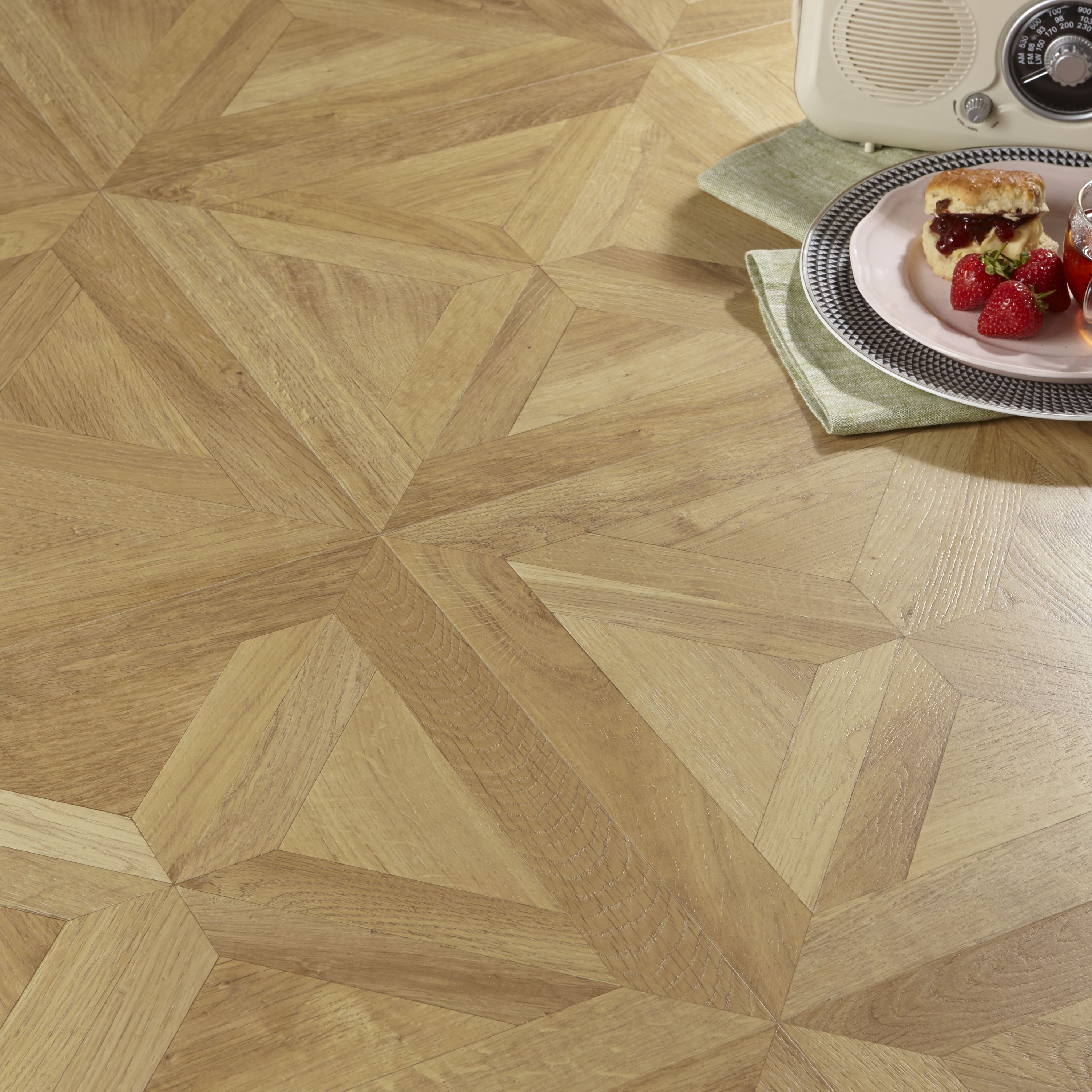 Staccato Oak Parquet Effect Laminate Flooring 1 86 M² Pack