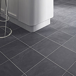 Leggiero Silver-Blue Slate Effect Laminate Flooring 1.72 m²