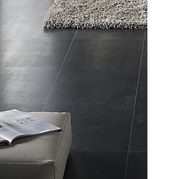 Cresendo Black Tile Effect Laminate Flooring 1.75 m²