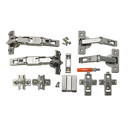 Cooke & Lewis Concealed 165° Door Hinge, Set