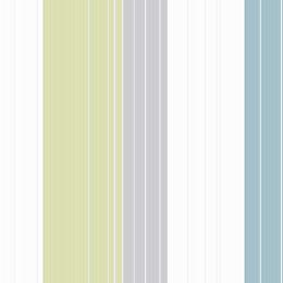 Colours Royale Blue & Green Stripe Wallpaper