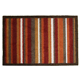 Colours Durian Multicolour Stripe Nylon Door Mat (L)0.8m