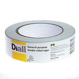Diall Double Sided Tape (L)25m (W)36mm