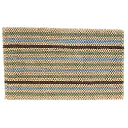 Colours Ambarella Blue, Green & Natural Stripe Jute