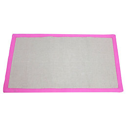 Colours Maharaja Pink & Grey Border Rug (L)1.2m