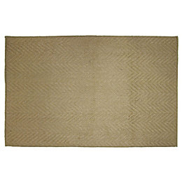 Diall Natural Herringbone Jute Door Mat (L)0.75m (W)450mm
