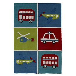 Colours Arion Multicolour Transport Rug (L)1.2m (W)0.8m