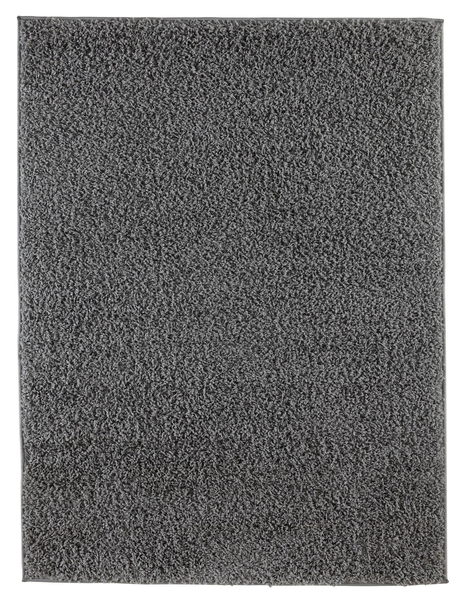 Colours Kala Grey Rug (l)1.2m (w)0.6m