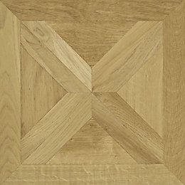 Staccato Natural Oak Parquet Effect Laminate Flooring 0.113