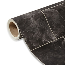 Octavina Black Slate Effect Vinyl 6m²