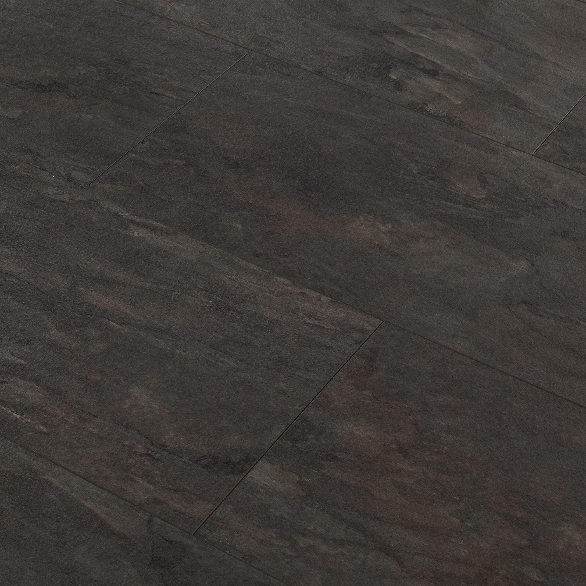 Libretto black slate tile effect laminate flooring m for Laminate tile squares