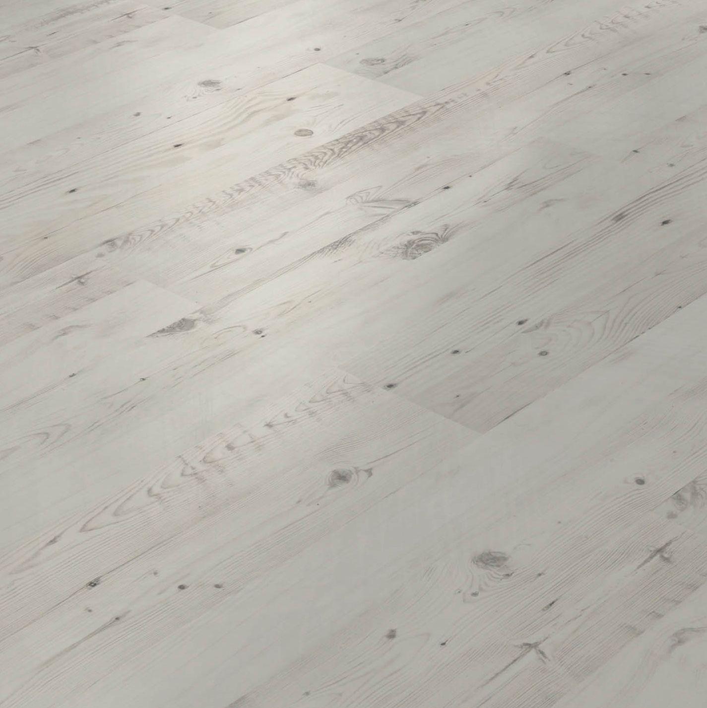 White wood flooring diy