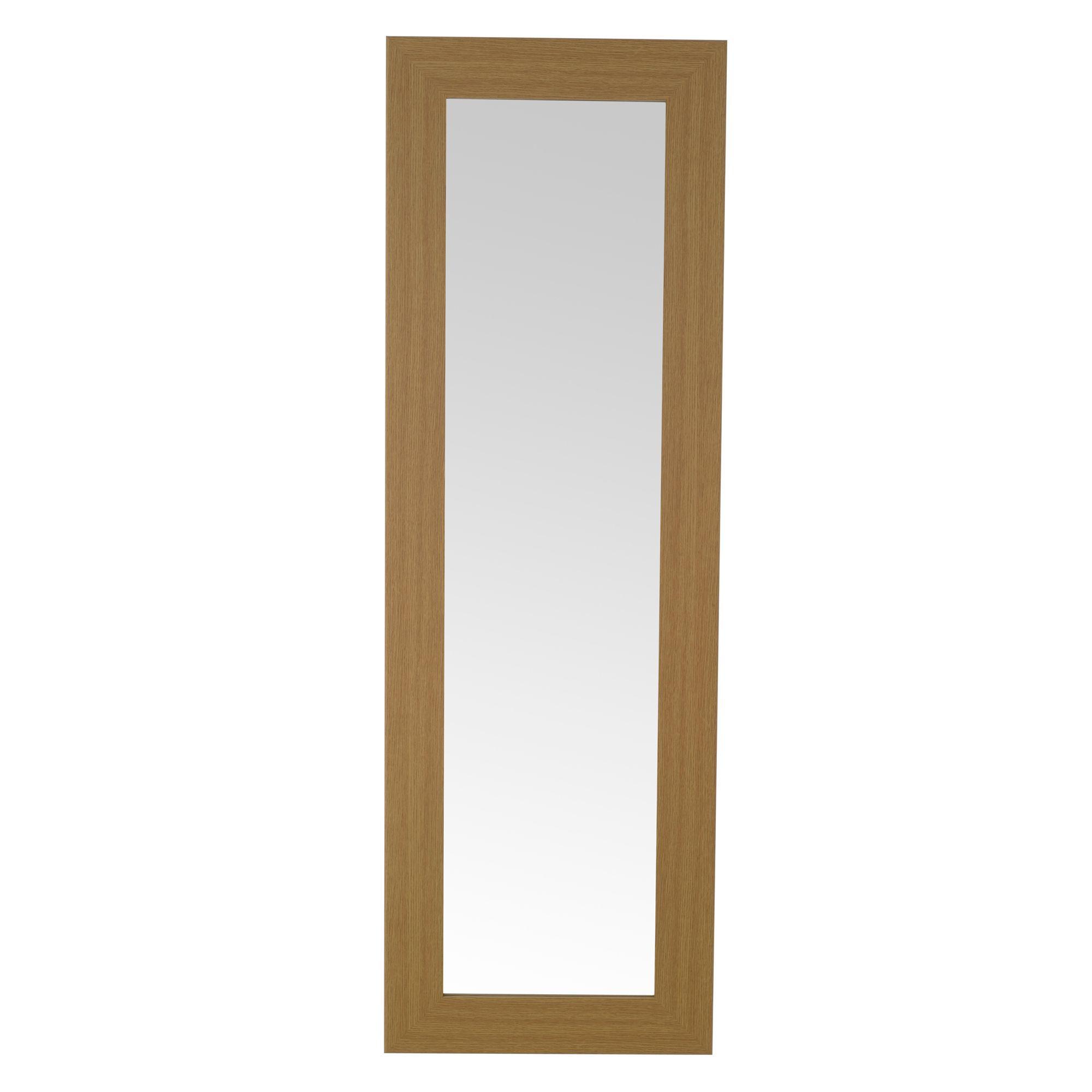 Colours Andino Oak Effect Framed Rectangular Wall Mirror (h)1350mm (w) 430mm