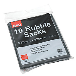 Diall Black Rubble Sack (W)535mm (L)820mm