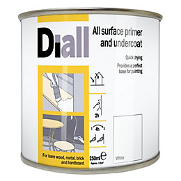 Diall White Most Surfaces Primer & Undercoat 2.5L