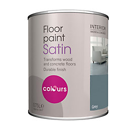 Colours Grey Satin Floor Paint 750ml