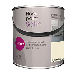 Colours Light Hessian Satin Floor Paint 2.5L