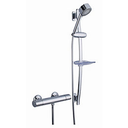 Cooke & Lewis Verbier Chrome Thermostatic Bar Mixer
