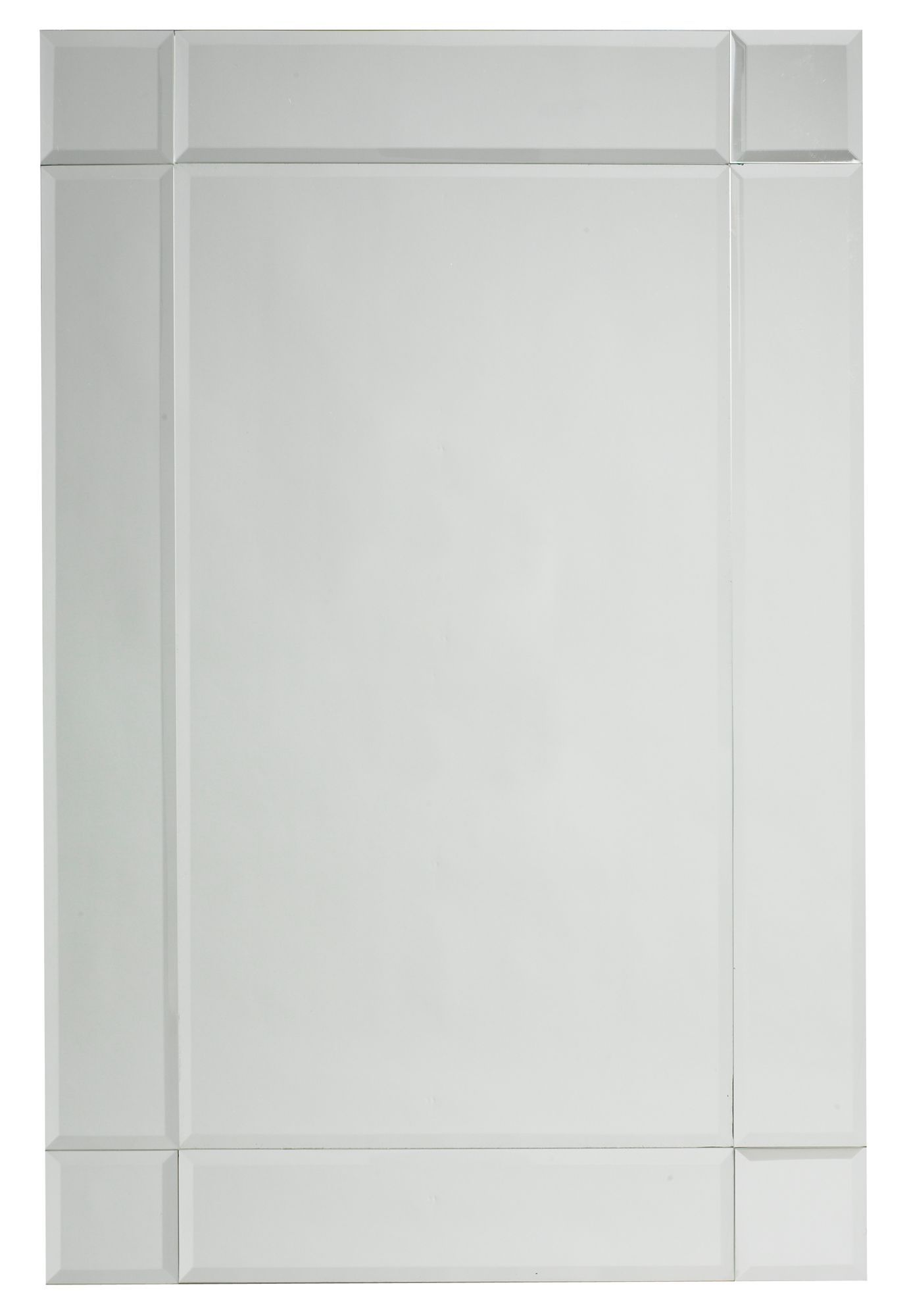 Colours Art Deco Frameless Rectangular Mirror (h)760mm (w) 500mm