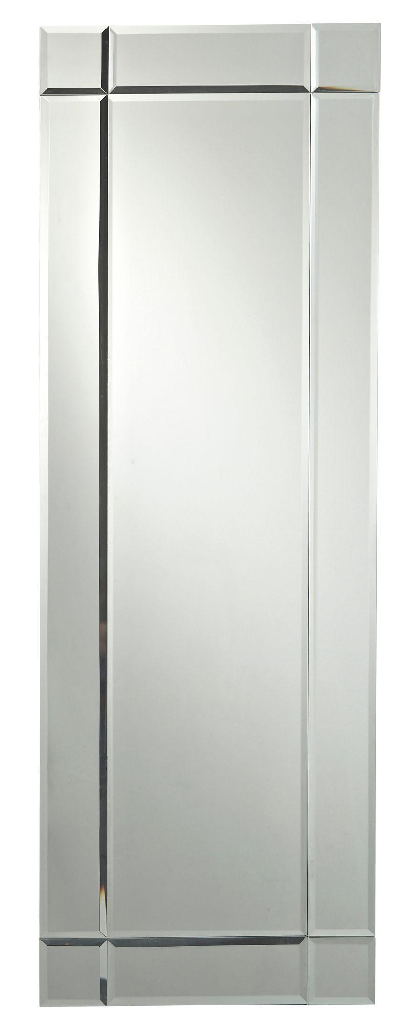 Colours Art Deco Frameless Rectangular Mirror (h)1170mm (w) 400mm
