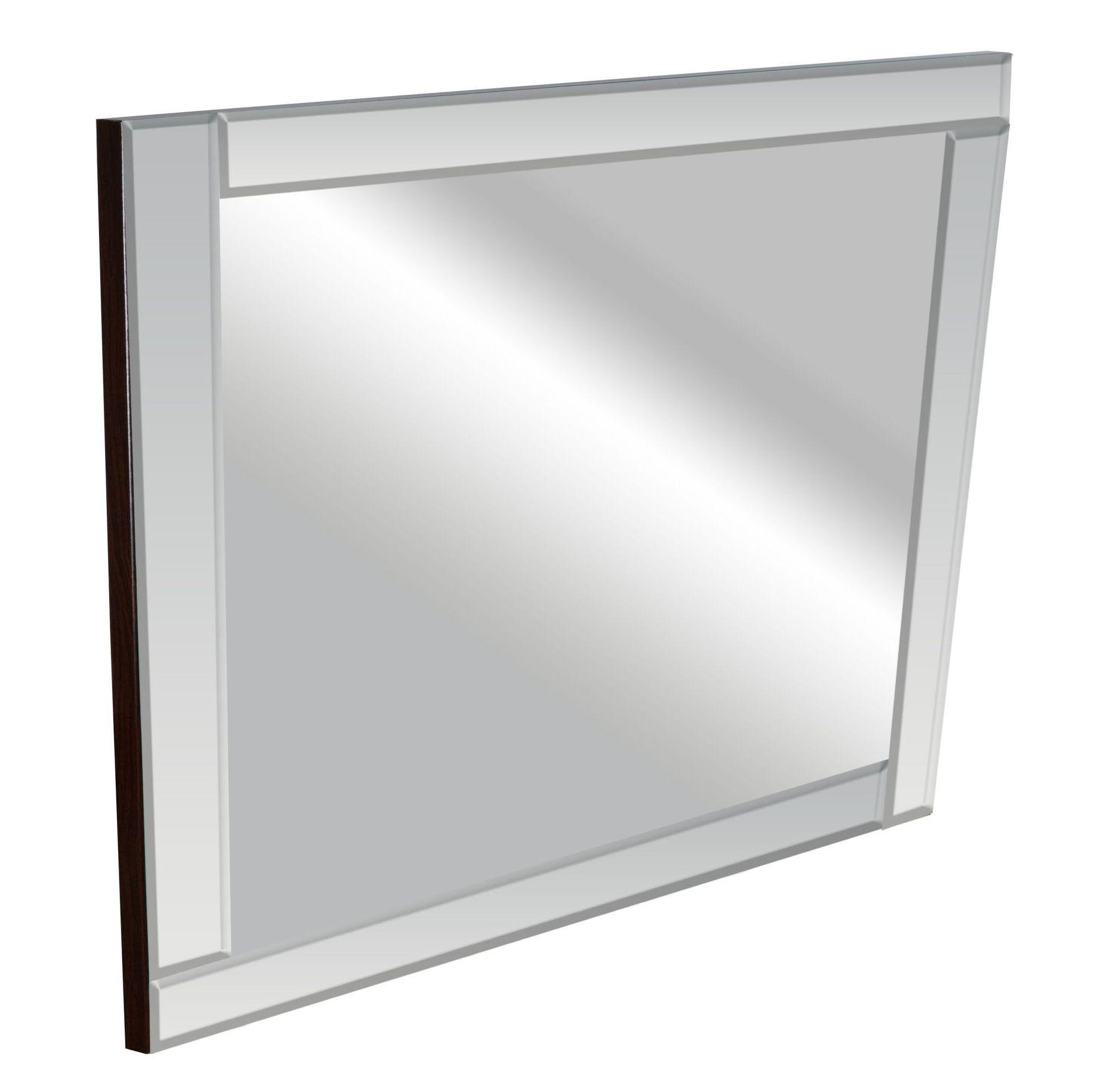 Colours Art Deco Frameless Square Mirror (h)360mm (w) 360mm
