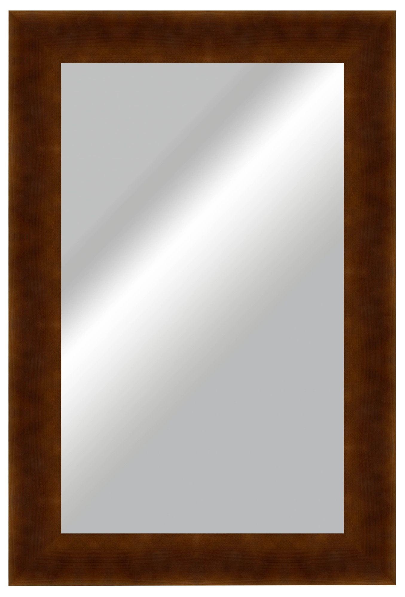 Colours Umezi Walnut Effect Framed Rectangular Wall Mirror (h)1223mm (w) 800mm