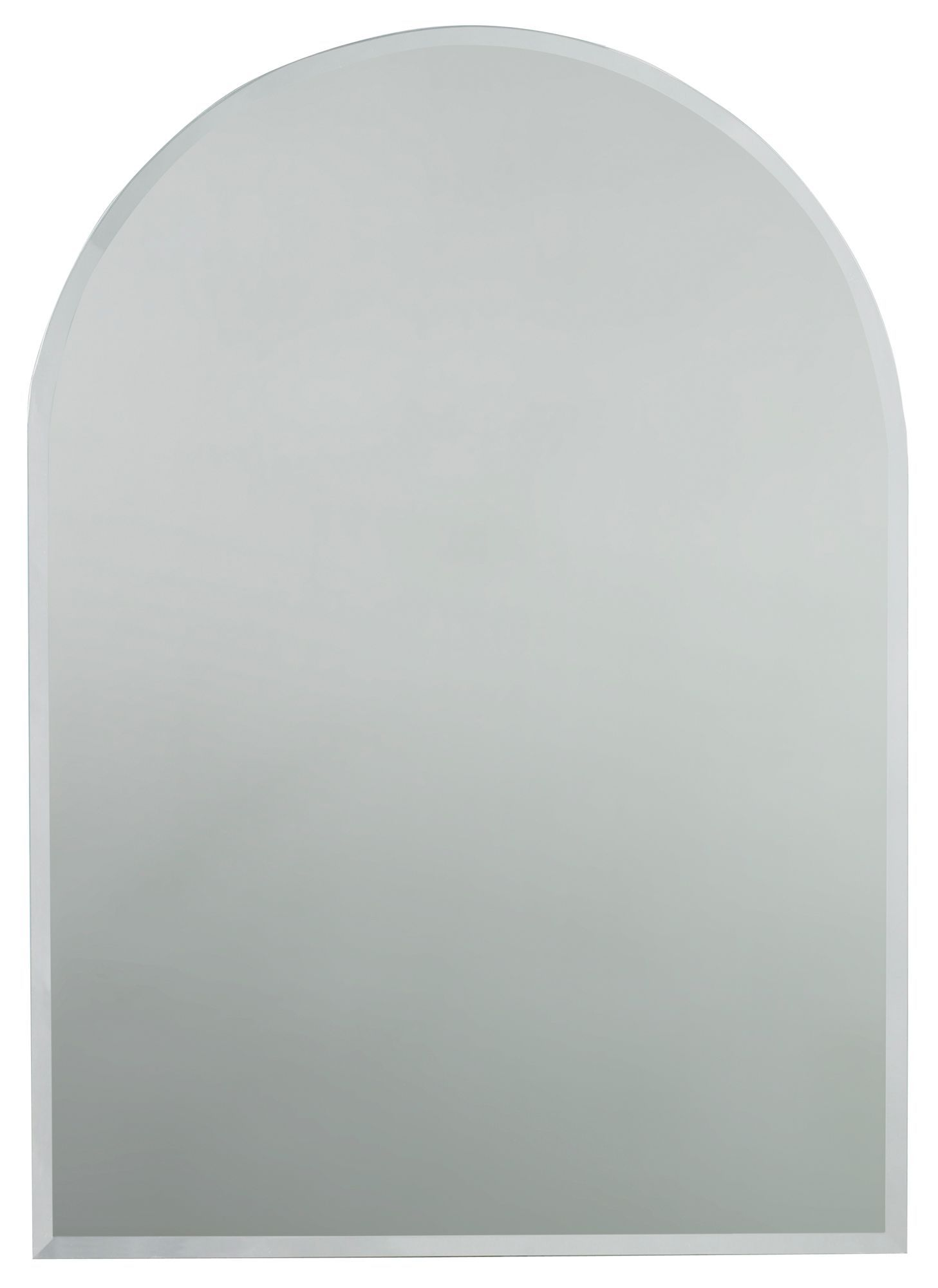 Colours Frameless Arch Mirror (h)700mm (w) 500mm