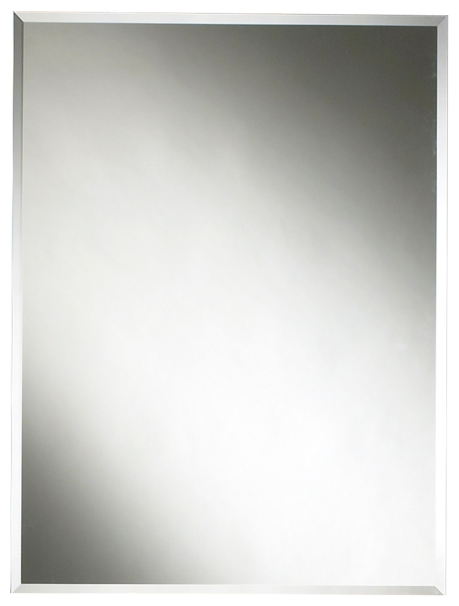 Colours Frameless Rectangular Mirror (h)600mm (w) 450mm