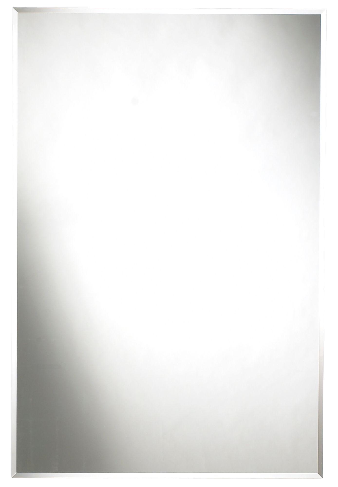 Colours Frameless Rectangular Mirror (h)900mm (w) 600mm