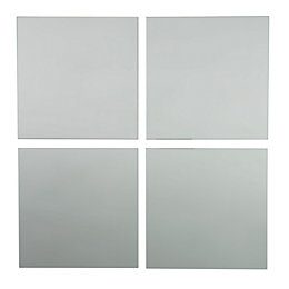 Colours Clear Unframed Square Mirror (H)220mm (W) 220mm