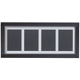 Black Wood 4 Aperture Picture Frame (H)52.7cm x