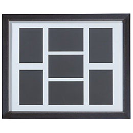 Black Multi Aperture Wood 7 Aperture Picture Frame