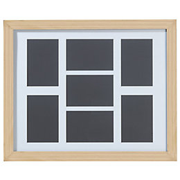 Oak Effect Wood 7 Aperture Picture Frame (H)52.7cm