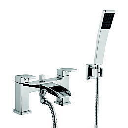 Cooke & Lewis Cascade Chrome Bath Shower Mixer