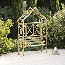 Cottage Wooden Apex Arbour