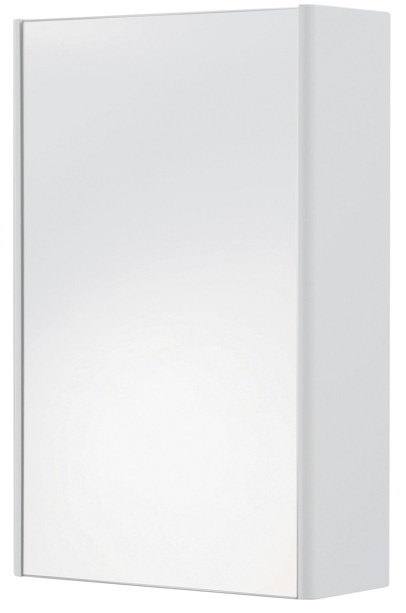Cooke & Lewis Tobique Single Door White Mirror Cabinet
