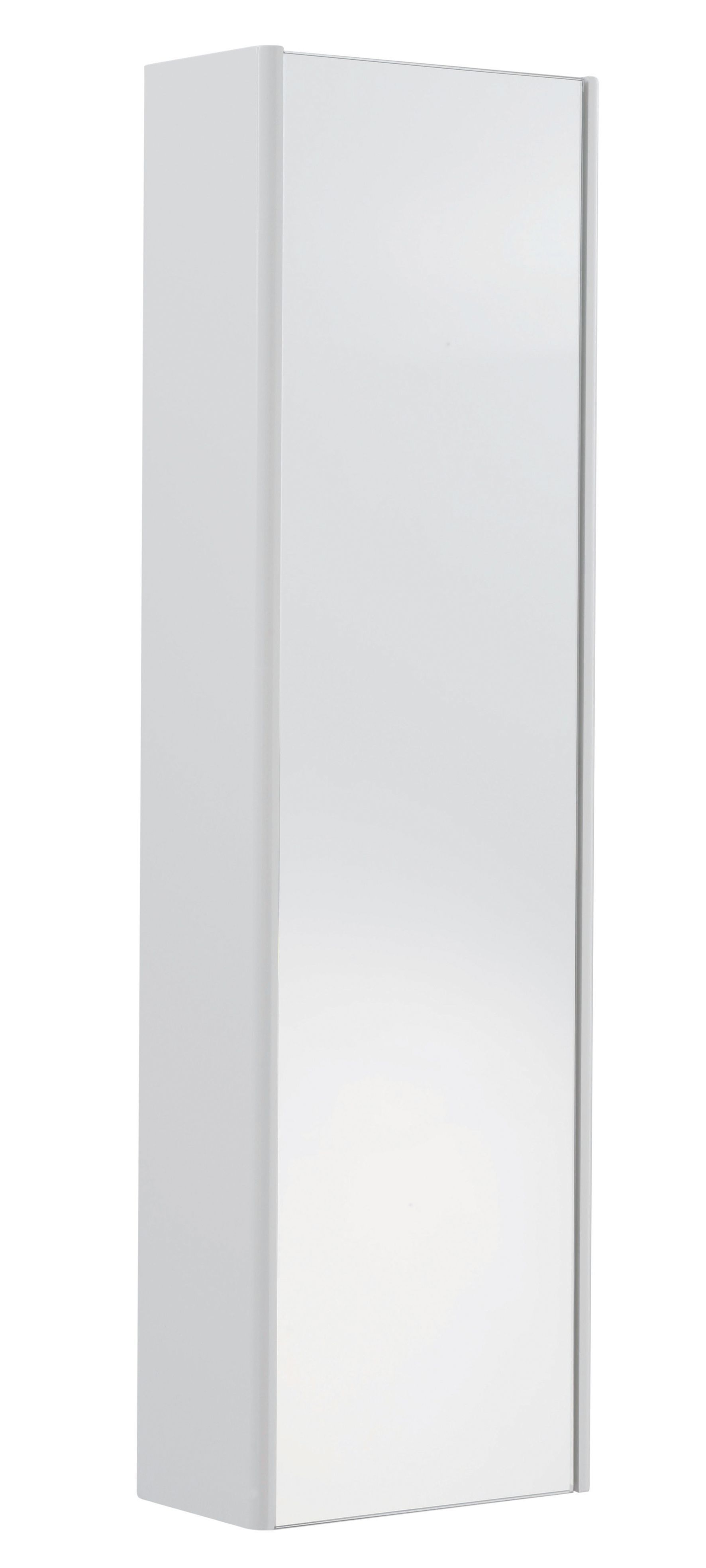 Cooke & Lewis Tobique Single Door White Tall Mirror Cabinet