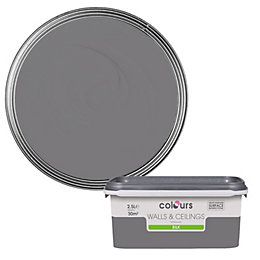 Colours Grey Slate Silk Emulsion Paint 2.5L